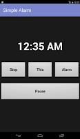 Screenshot of Simple Alarm Pro