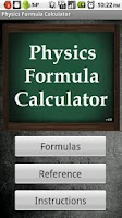 Screenshot of Physics Formula Calculator 1.1