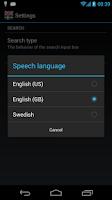 Screenshot of Offline English Swedish Dict.