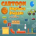 Cartoon physics puzzle icon