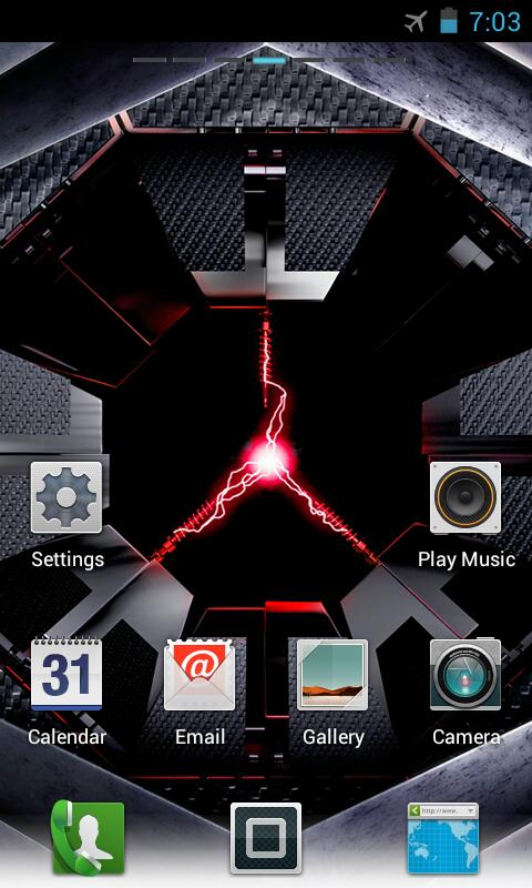 DROID RAZR GO Launcher Theme - screenshot