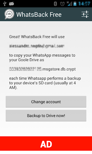 WhatsBack Free:WhatsApp Backup