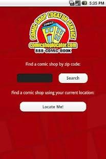 Comic Shop Locator - screenshot thumbnail
