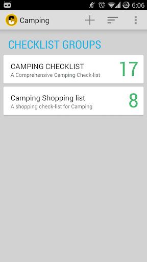 Camping Checklist Pro