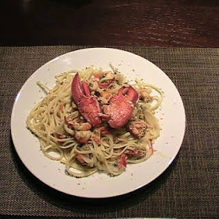 Lobster Saute with Linguine.