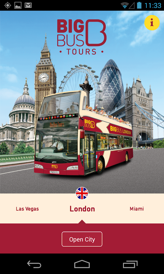 big bus tours city guide android apps on google play. Black Bedroom Furniture Sets. Home Design Ideas