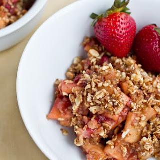 Strawberry Apple Breakfast Crisp