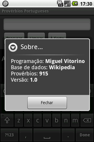Provérbios Portugueses - screenshot
