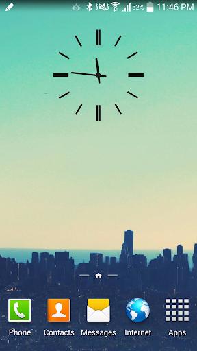 Black S3 Analog Clock