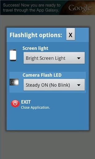 LED Flashlight with blink