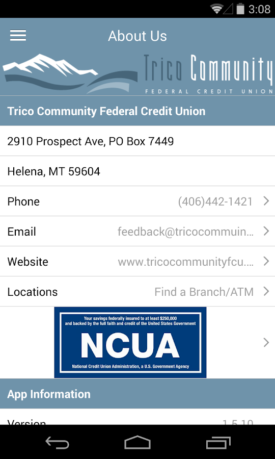 Trico Community FCU- screenshot
