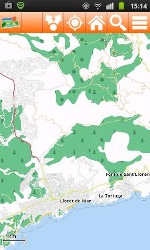 Costa Brava Offline mappa Map