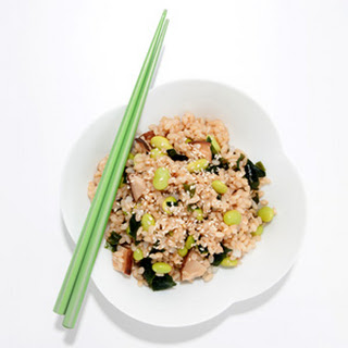 Rice with Edamame and Sea Greens.