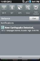 Screenshot of 2.5+ Earthquake Detector