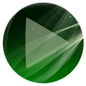 Poweramp Skin Sphere Green icon