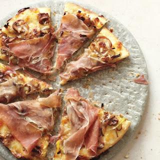 Leek, Mushroom, and Prosciutto Pizza