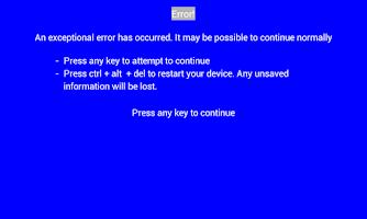 Screenshot of Error Screen Free