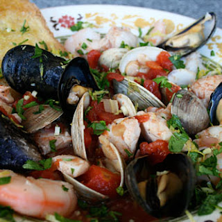 Seafood Soup Trieste Style.