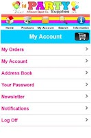 Screenshot of Party Supplies Shop