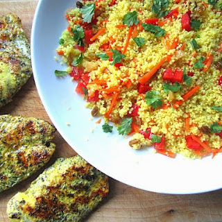 Moroccan Couscous w/ Grilled Lemon Chicken