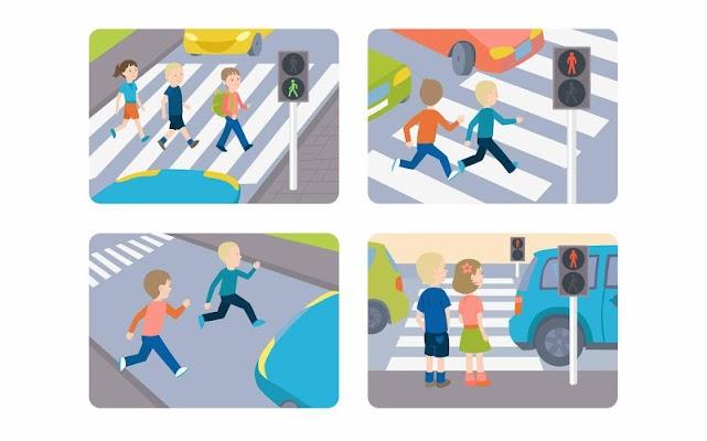 Learn traffic rules kids game - screenshot