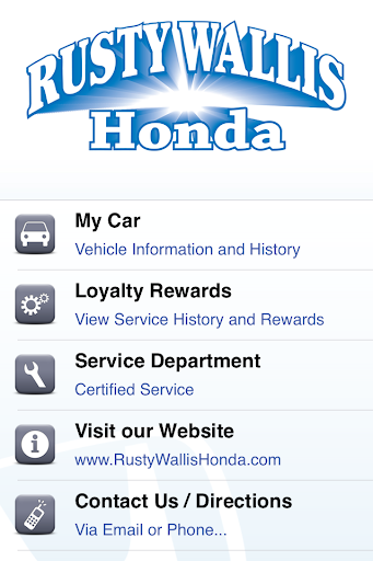 Rusty Wallis Honda Rewards
