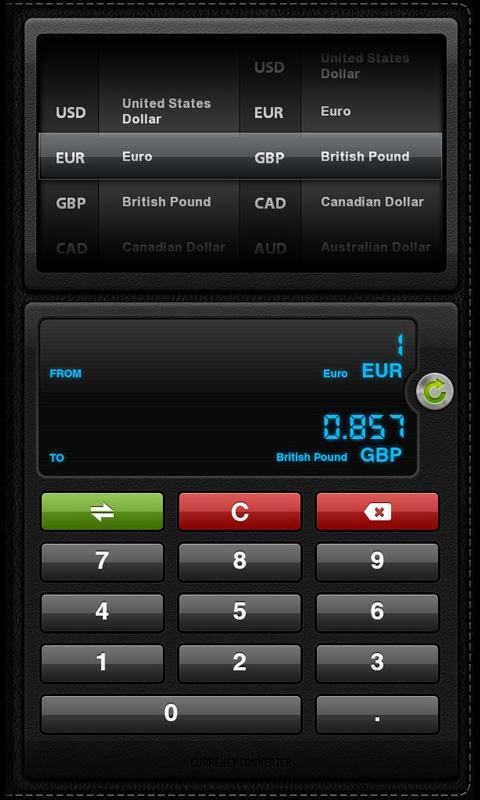 Currency Converter for Tablets - screenshot