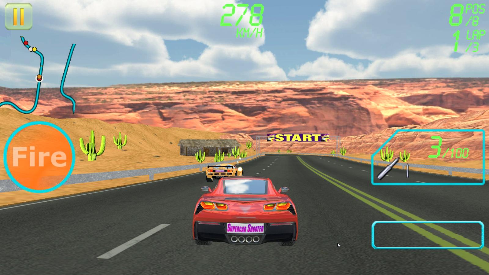 Supercar Shooter : Death Race - screenshot