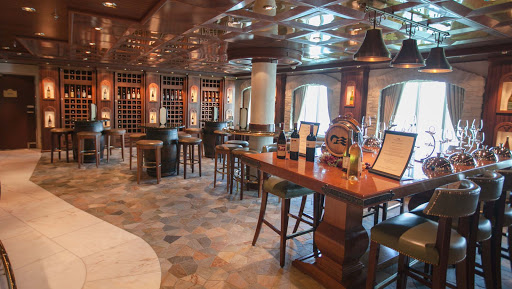 Star-Princess-Vines-Wine-Bar - The Vines Wine Bar on deck 5 is open from 11 am to 11 pm and offers complimentary sushi and tapas with all drinks purchased.