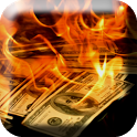 Dollars in Fire Live Wallpaper icon