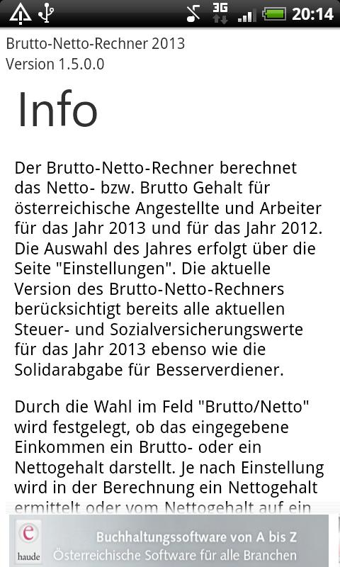 Brutto Netto Rechner 2013 - screenshot
