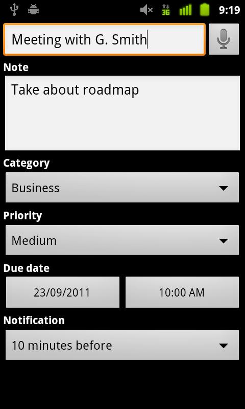 Yata To-Do List - screenshot