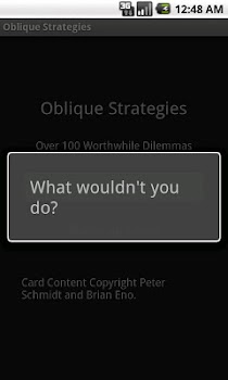 Deprecated-Oblique Strategies