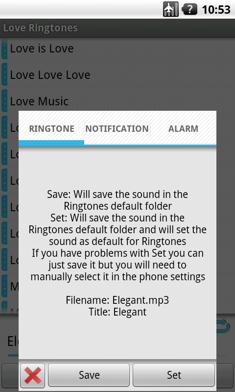 Love Ringtones +50 FREE - screenshot