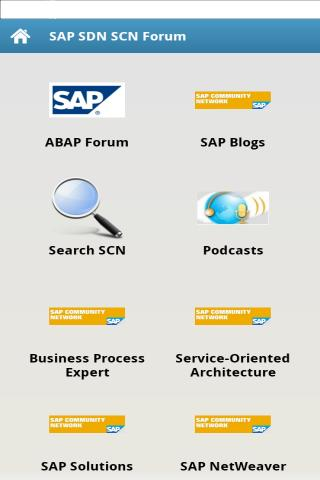 SAP SCN - screenshot
