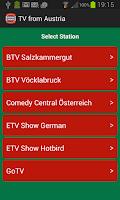 Screenshot of TV from Austria