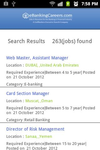 eBankingCareers.com- screenshot