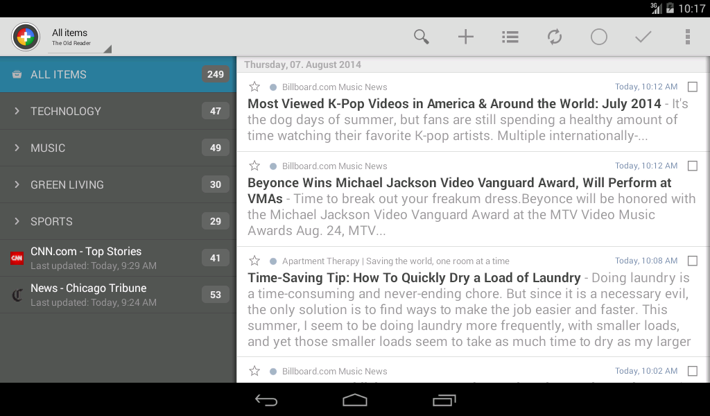 The Old Reader for News+ - screenshot