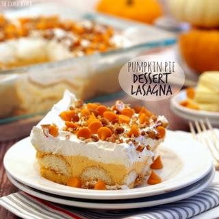 Pumpkin Pie Dessert Lasagna.