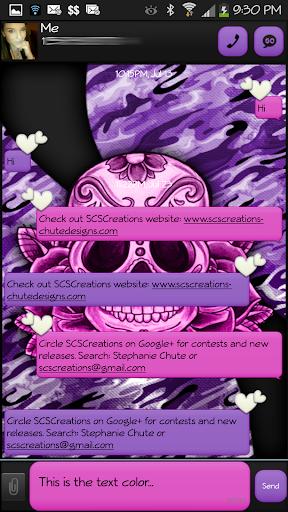 GO SMS - Sugar Skullz 5