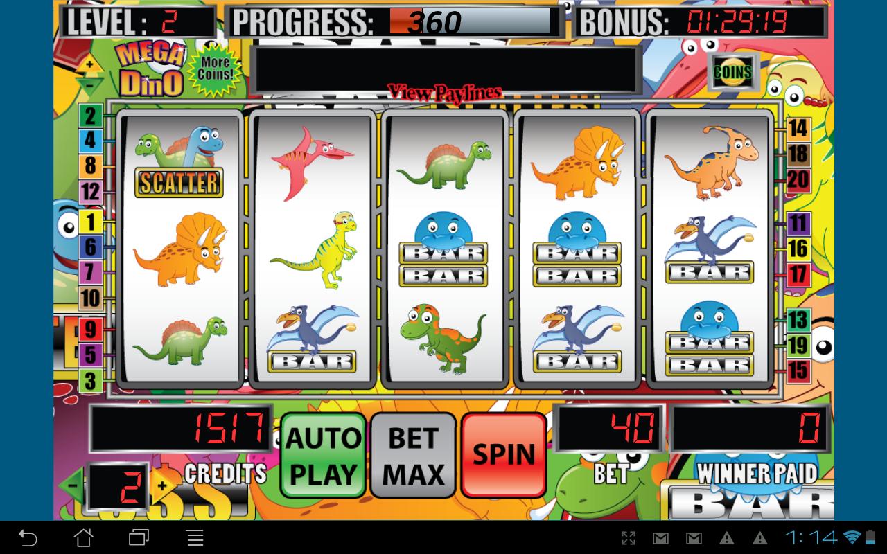 Dino slot machine