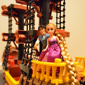 Tangled...!! by Reshmid Ramesh - Artistic Objects Toys ( toy, ship, object, boat, rapunzel )
