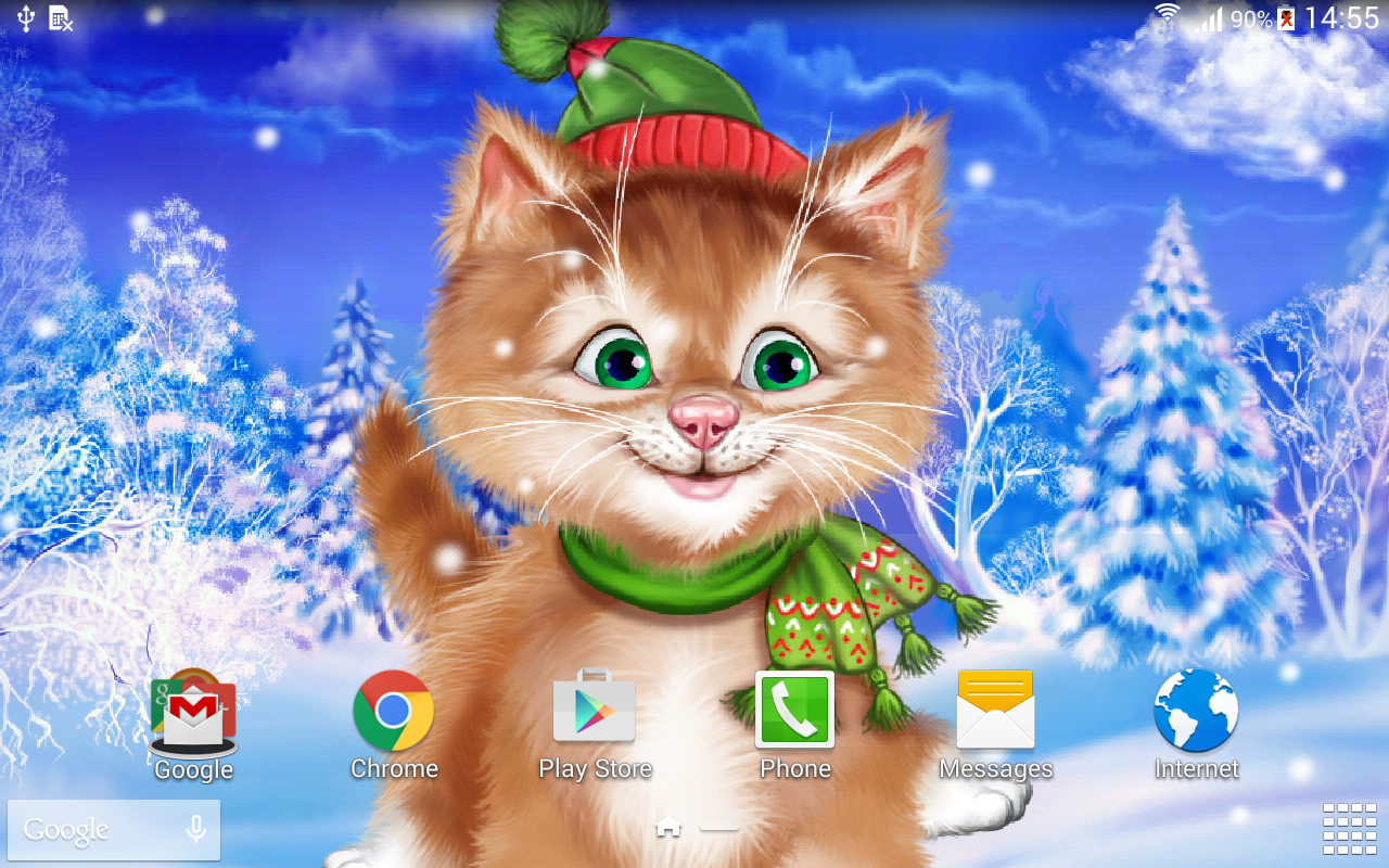 winter cat live wallpaper cute pretty amazing live wallpaper