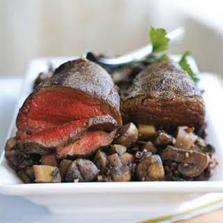 Beef Tenderloin with Parsnip-Mushroom Ragout.