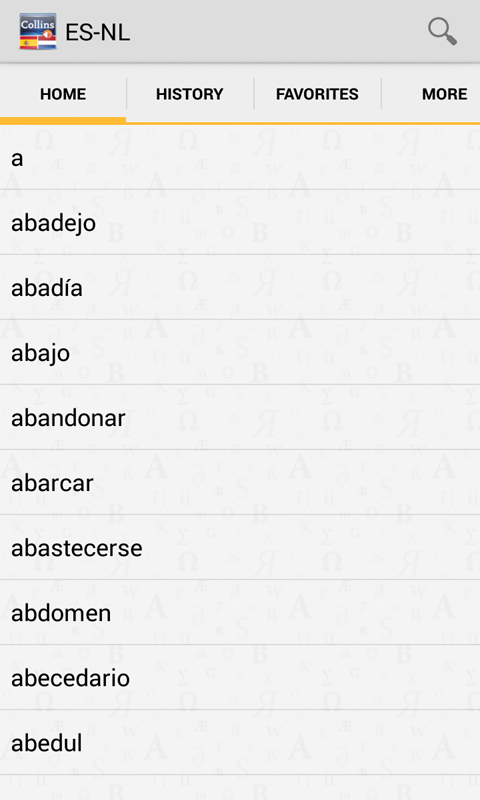 Spanish<>Dutch Dictionary T - screenshot