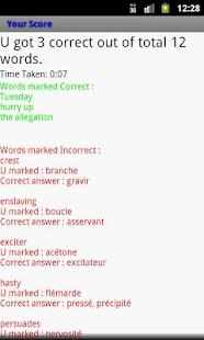 English to French Wordlist - screenshot thumbnail