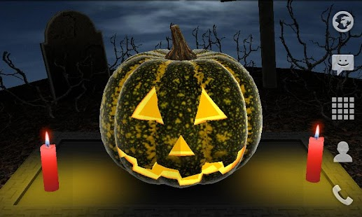 Halloween Pumpkin 3D Live Wallpaper- screenshot thumbnail