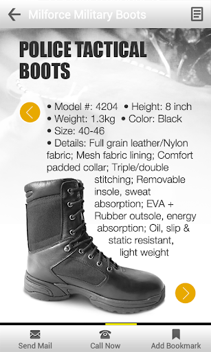 Milforce Military Boots