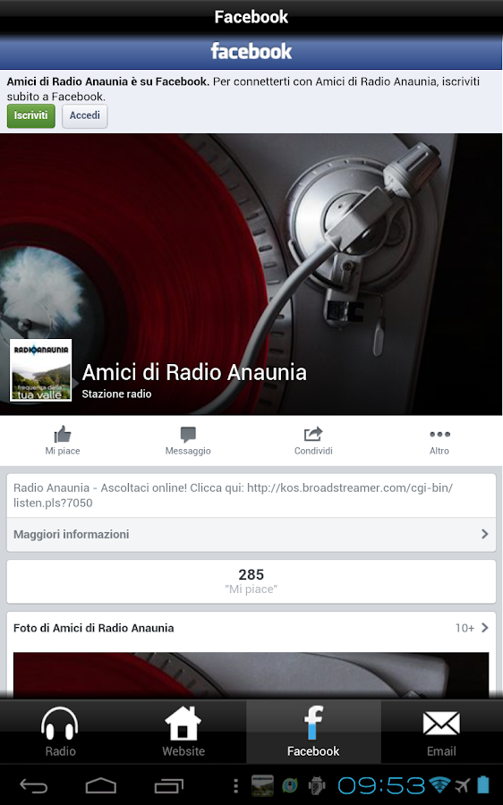 Radio Anaunia- screenshot