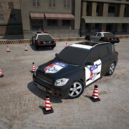 3D警察の駐車場